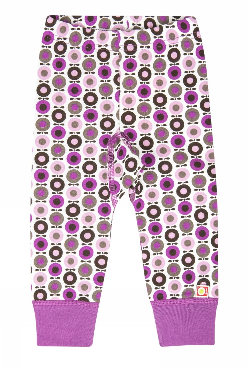 Image of   Baby leggings med lilla kant