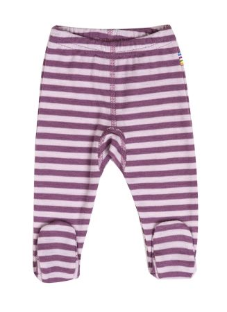 Lilla ulleggings med fot – double stripe