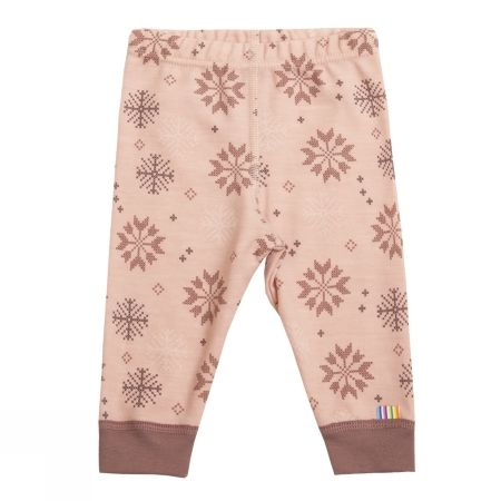 Leggings i ull / bomull - light rose